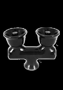 VORTEX Double Hookah Bowl BLACK