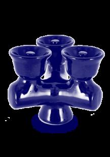 VORTEX Triple Hookah Bowl BLUE